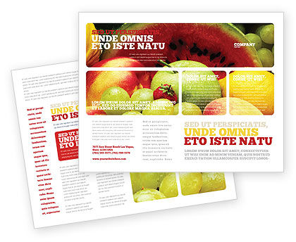 Fresh Fruits Of Summer Brochure Template Design and Layout, Download
