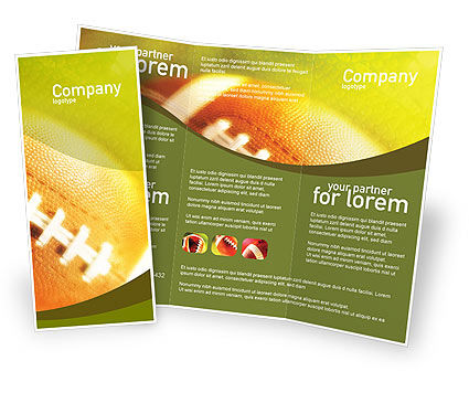 Ball Lacing Brochure Template #01254