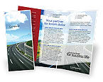 Construction: Highway Under Blue Sky Brochure Template #01358