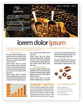 Coffee Beans In A Bag Newsletter Template #01613