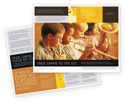 Music school brochure template design and layout download for Music brochure templates