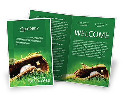 Baseball glove and bat brochure template design and layout for Baseball brochure template