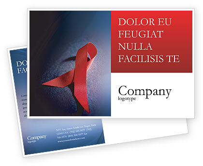 Aids postcard template in microsoft word adobe indesign for Hiv aids brochure templates