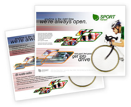 Tour de France Brochure Template #01895