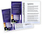 Interior In Violet Brochure Template