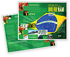 Brazilian Flag Brochure Template