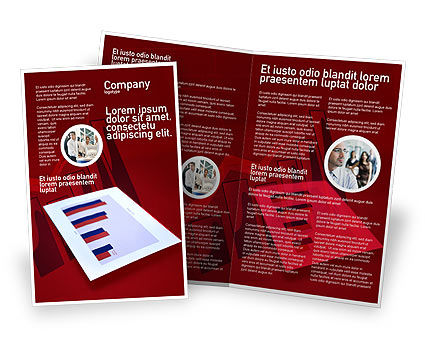 Red histogram brochure template design and layout for Red brochure template