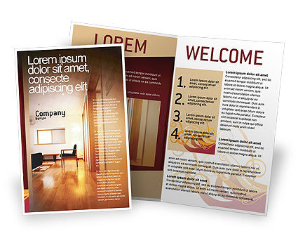 Apartment design brochure template design and layout for Apartment design template
