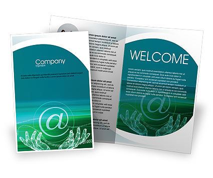 Internet technologies brochure template design and layout for Technology brochure templates