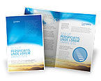 Blue Sky With Sunbeams Brochure Template