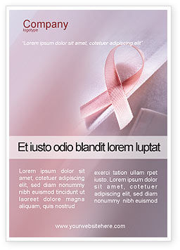 Breast cancer awareness ad template for advertising needs for Breast cancer brochure template free