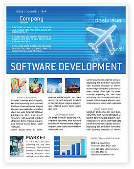 Airways Newsletter Template for Microsoft Word & Adobe InDesign, 02321 ...