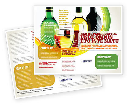 White wine tasting brochure template design and layout for Wine brochure template free