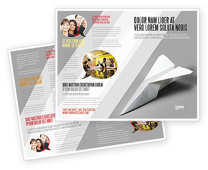 hp brochure template - paper airplane brochure template design and layout