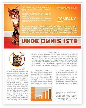Curious Cat Newsletter Template #02560
