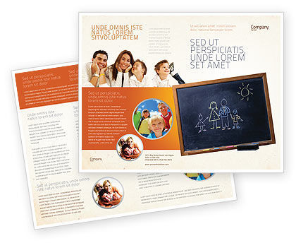 Kids and school brochure template design and layout for School brochure template free download
