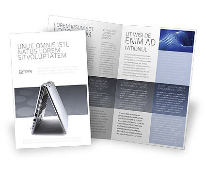 computer brochure templates - portable computer brochure template design and layout
