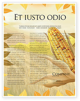 Free Corn Thanksgiving Flyer Template #02821