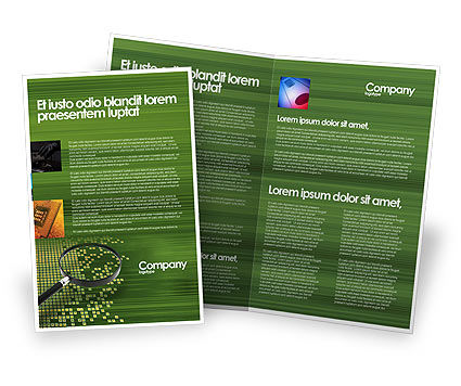 Retrieval information brochure template design and layout for Information brochure template