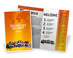 Kids On the Orange World Background Brochure Template