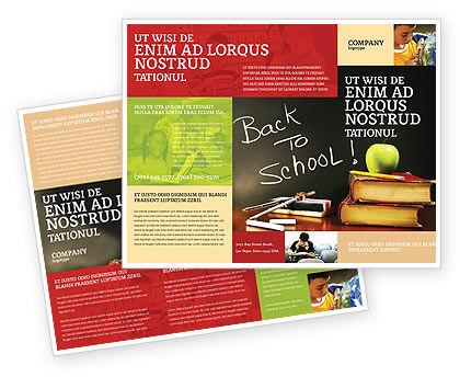 Back To School Brochure Template #02867