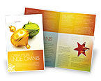 Holiday/Special Occasion: Decorations Of New Year Brochure Template #02886