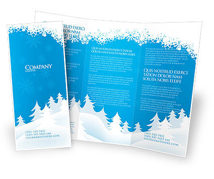 Forest snow brochure template design and layout download now 02888
