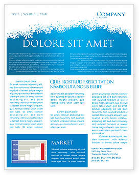 free april newsletter template - forest snow newsletter template for microsoft word adobe