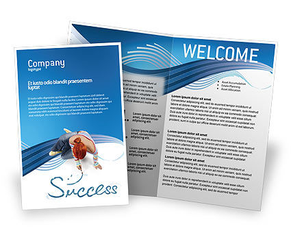 Women 39 s success brochure template design and layout for Successful brochure design