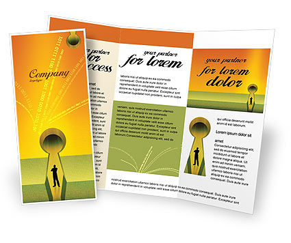 Digital fortress brochure template design and layout for Electronic brochure templates