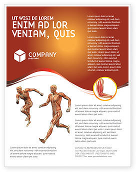 Muscular System Flyer Template #02911