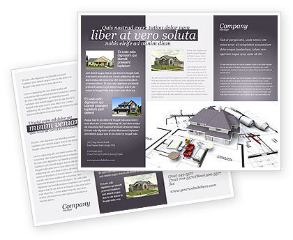 Townhouse project brochure template design and layout for Project brochure template