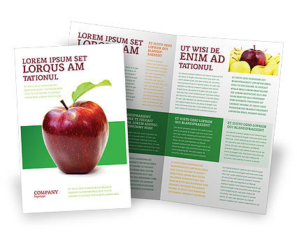 Red apple brochure template design and layout download for Apple brochure templates