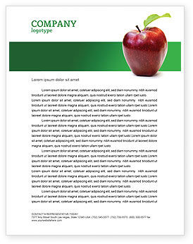 Red apple letterhead template layout for microsoft word for Free letterhead templates for mac