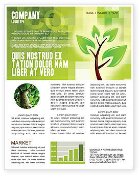 Green health newsletter template for microsoft word for Health and wellness newsletter template