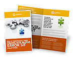 Business Concepts: Steel Puzzle Brochure Template #03097