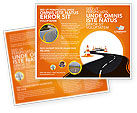 Road Work Brochure Template