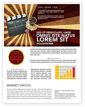Films and cinema newsletter template for microsoft word for Film brochure template