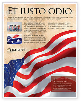 American stars and stripes flag flyer template background for America brochure template