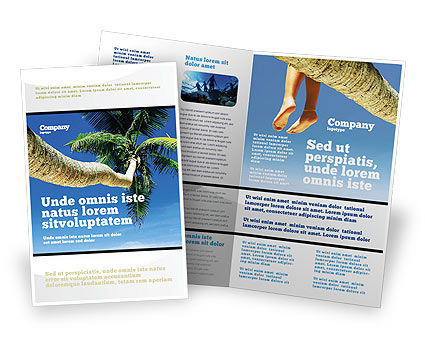 Exotic island word template 02272 for Island brochure template