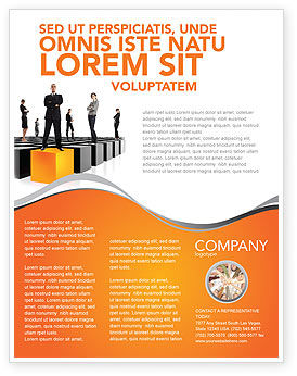 leadership training progress flyer template background in microsoft
