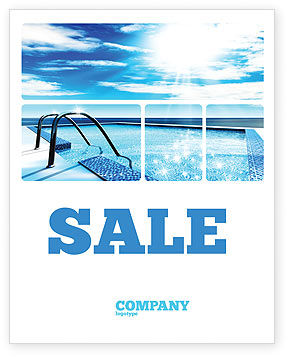 Swimming Pool Sale Poster Template In Microsoft Word Publisher And Adobe Illustrator Formats