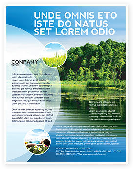 Landscape Flyer Template Background in Microsoft Word Publisher and WuVIJK6F