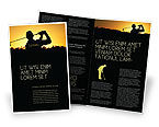 Sports: Golf Game On The Sunset Brochure Template #03731
