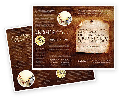 Old Paper Theme Brochure Template #03789