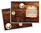 Old Paper Theme Brochure Template #03789 - small preview