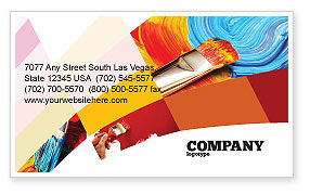 Oil painting business card template layout download oil for Oil painting templates
