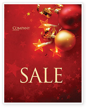 Red Christmas Theme Sale Poster Template in Microsoft Word, Publisher ...