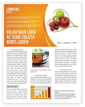 Balanced nutrition newsletter template for microsoft word for Nutrition brochure template