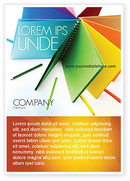 Color paper ad template for advertising needs id 04355 for Paper advertisement templates